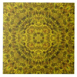 Goldweb afiligranado azulejo cuadrado grande