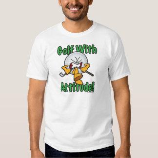 Golf con la pelota de golf del dibujo animado de camisas