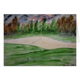 golf_course_large tarjeta de felicitación