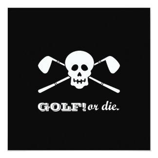 ¡Golf de la despedida de soltero - no Invitación 13,3 Cm X 13,3cm
