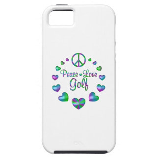 Golf del amor de la paz funda para iPhone SE/5/5s