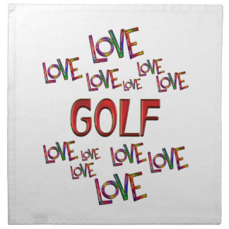 Golf del amor del amor servilleta de tela
