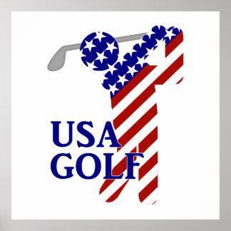 Golf para hombre de los E.E.U.U. - golfista de sex Póster