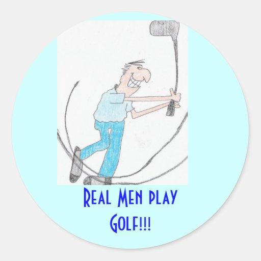 ¡Golf real del juego de los hombres del Etiqueta Redonda