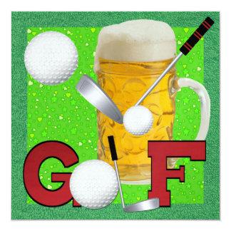 Golf - SRF Invitación 13,3 Cm X 13,3cm