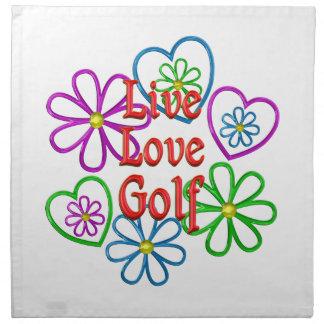 Golf vivo del amor servilleta de tela