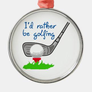 Golfing bastante ornamento de navidad