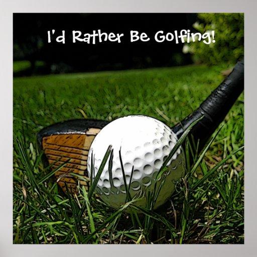 Golfing bastante el poster