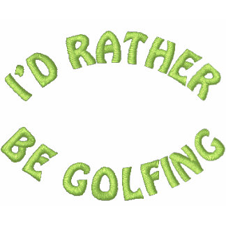 Golfing bastante la camisa bordada del golf polo bordado