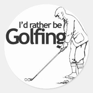 Golfing bastante etiqueta redonda