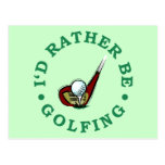 Golfing bastante postales