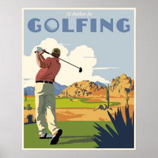 ¡Golfing bastante también! Póster