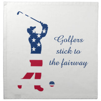 Golfista de la bandera americana del golf de los servilleta de tela
