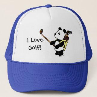 Golfista de la panda de Kawaii Gorra De Camionero