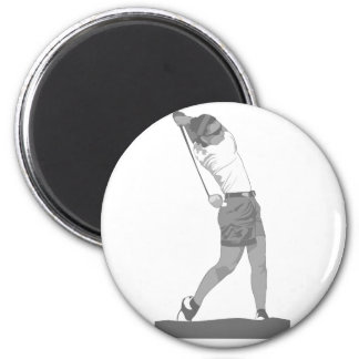 Golfista de sexo femenino imanes