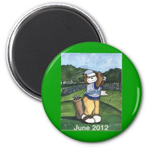 Golfista de sexo masculino iman para frigorífico