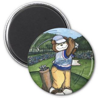 Golfista de sexo masculino imán de nevera