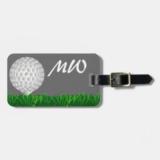 Golfista personalizado de la pelota de golf etiqueta para maletas