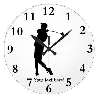 Golfista Reloj Redondo Grande