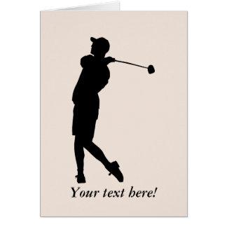 Golfista Tarjeta De Felicitación
