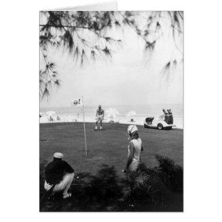 Golfistas, Marco Island, la Florida, 1966 Tarjetón