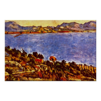 Golfo de Marsella de Paul Cezanne Póster