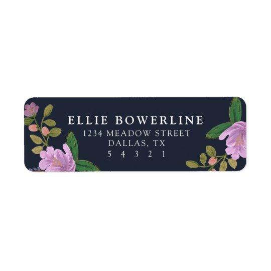 Golightly floral etiquetas de remite
