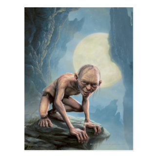 Gollum con la luna tarjeta postal
