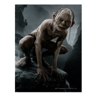Gollum en una roca postal