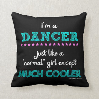 Golly chicas - soy bailarín cojín decorativo