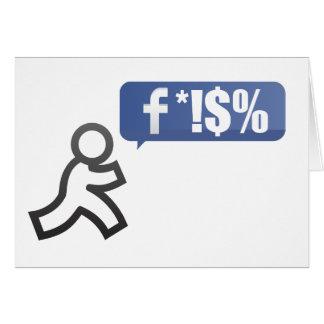 Golpe del FB Tarjeta De Felicitación