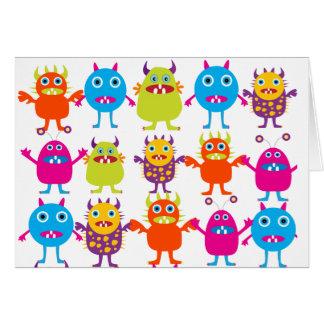 Golpe divertido colorido de las criaturas del tarjeta pequeña