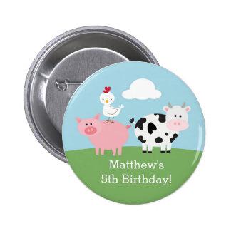Golpe/fiesta del cumpleaños del corral chapa redonda de 5 cm