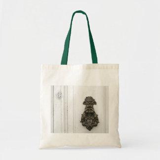Golpeador de cobre amarillo tradicional bolso de tela