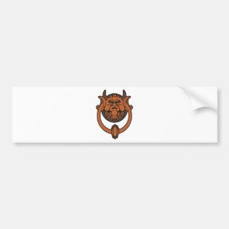 Golpeador de puerta del Goblin Etiqueta De Parachoque