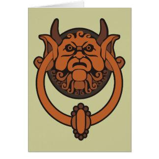 Golpeador de puerta del Goblin Tarjeta