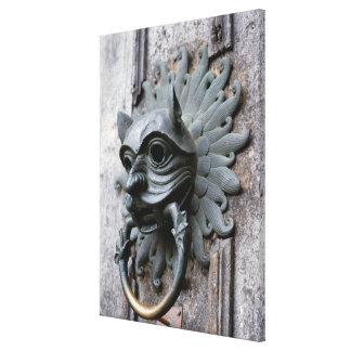 Golpeador del santuario de la catedral de Durham Impresión En Lienzo