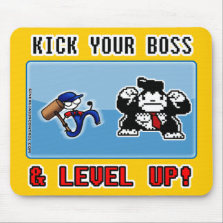 ¡golpee su jefe y nivel con el pie para arriba! tapetes de raton