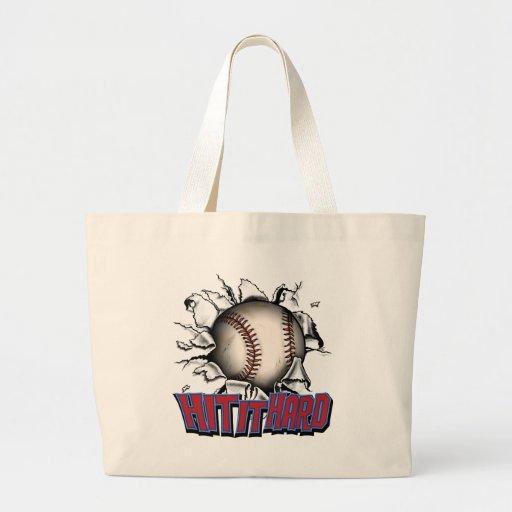 Golpéelo los bolsos y los totes duros del béisbol bolsa tela grande