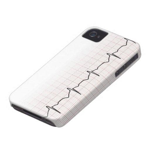 Golpeo médico del corazón de EKG, para el doctor o Case-Mate iPhone 4 Protectores