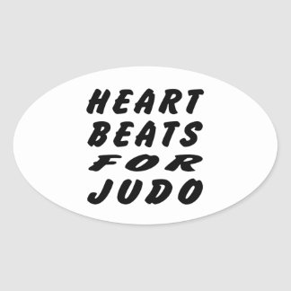 Golpes de corazón para los artes marciales del calcomanías de ovales personalizadas