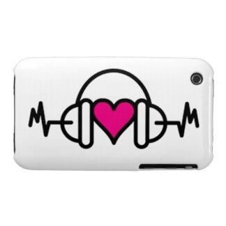 Golpes del amor iPhone 3 Case-Mate fundas