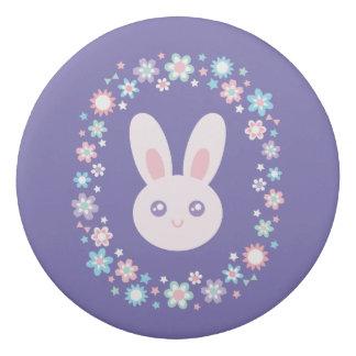 Goma De Borrar Azul lindo de la lavanda del conejo de conejito de
