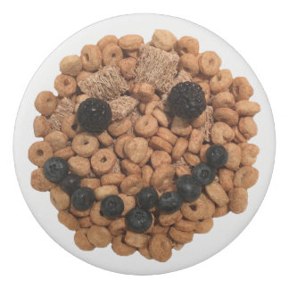 Goma De Borrar Cara sonriente linda de la fruta y del cereal