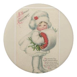 Goma De Borrar Chica de la nieve del vintage