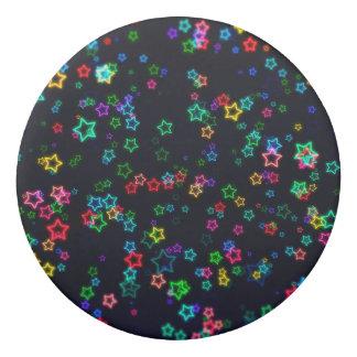 Goma De Borrar Estrella de neón del estallido colorido