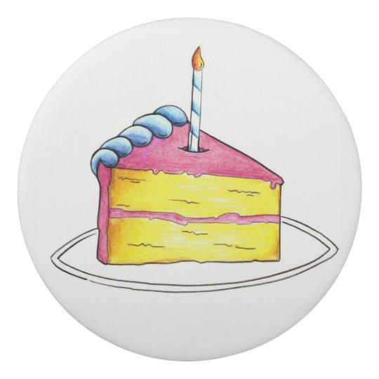 Goma De Borrar Favor de fiesta personalizado rebanada de la torta