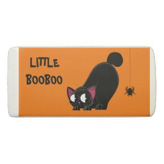Goma De Borrar Gato negro y araña de Halloween