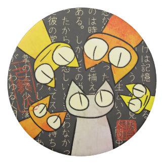 Goma De Borrar Gatos de la porción el mirar fijamente del naranja