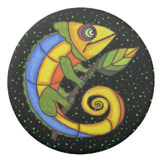 Goma De Borrar La ronda grande del lagarto colorido del dibujo